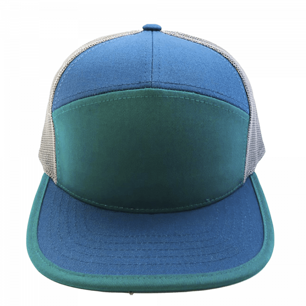 7 Panel Teal & Blue for hat builder