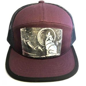 7P PurpleMaroon Howling Wolf front view