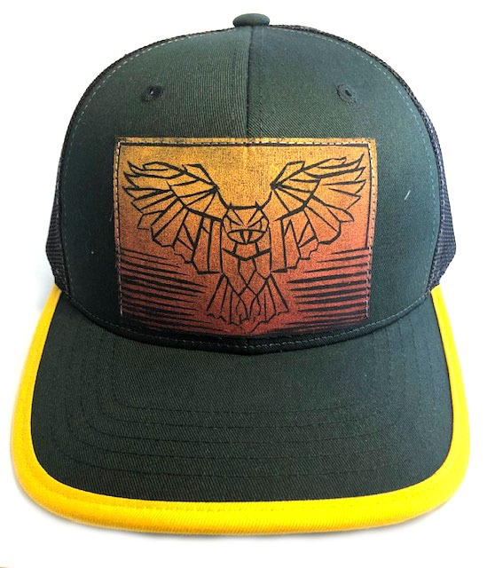 CF Green and yellow Owl Front view